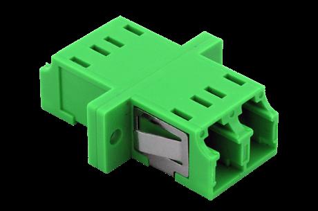 TKM LWL Kupplung: LC duplex, OS2-APC, grün