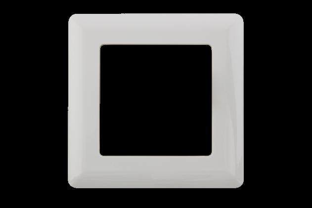 Abdeckrahmen (eckig) für Datendose – 1-fach – Unterputzmontage