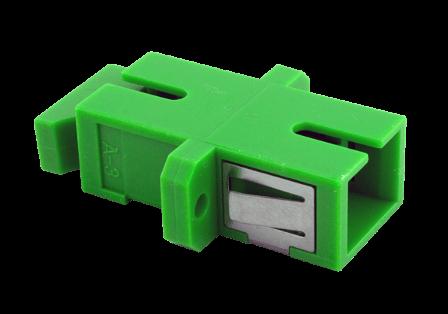 TKM LWL-Kupplung: SC simplex, OS2-APC, grün