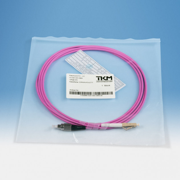 TKM Patch-/Adapterkabel, FC/PC, LC/PC, OM4 simplex 2 m: Verpackung