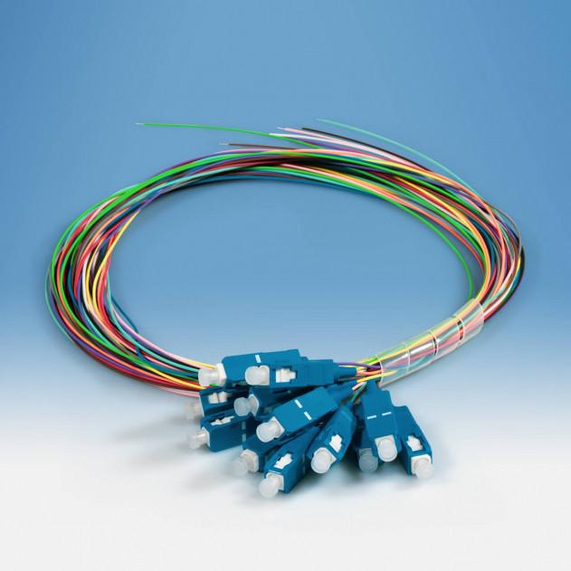 TKM Pigtailsatz: 12 Stück, OS2, SC/PC, 12-farbig, 2 m