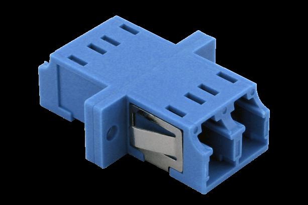 TKM LWL-Kupplung: LC duplex, OS2-PC, blau