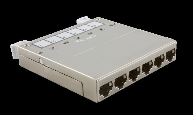 MC – Modulkassette – 6 ×RJ45 – Cat. 6A – STP – HD