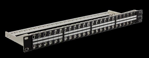 Verteilerfeld für 48 × RJ45 Keystone HD-Module – 1,0 HE