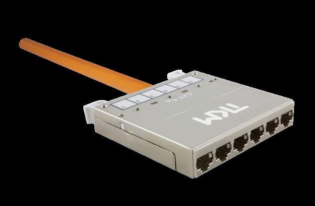 RZ-Trunkkabel – bds .Modulkassette 6 × RJ45 – Cat. 6A – Länge: 2,0 m