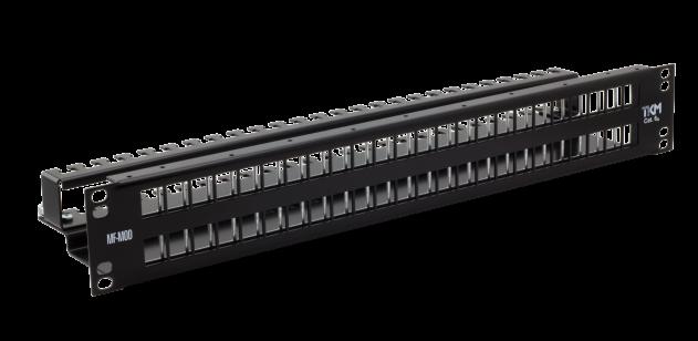 Verteilerfeld – 1,5 HE – 48 Ports (leer) RAL7035