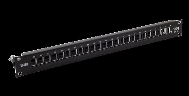 Verteilerfeld – Leergehäuse für 24 × RJ45-MOD – Cat. 6 – schwarz